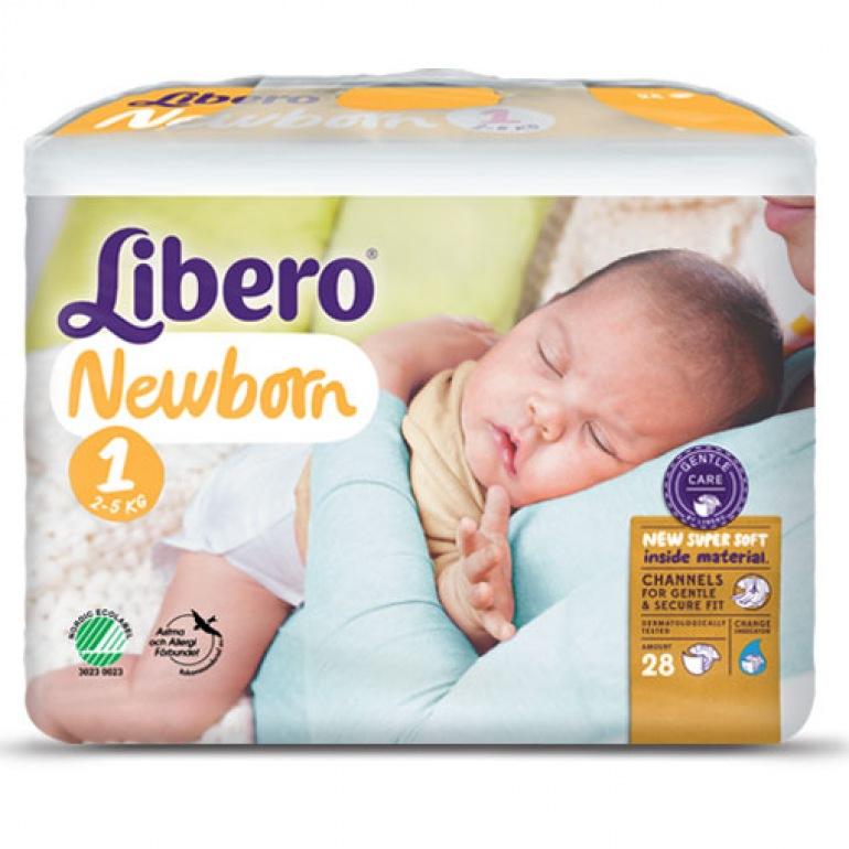 Libero Newborn 1 Baby Nappies 1 Pack of 28 2-5kg