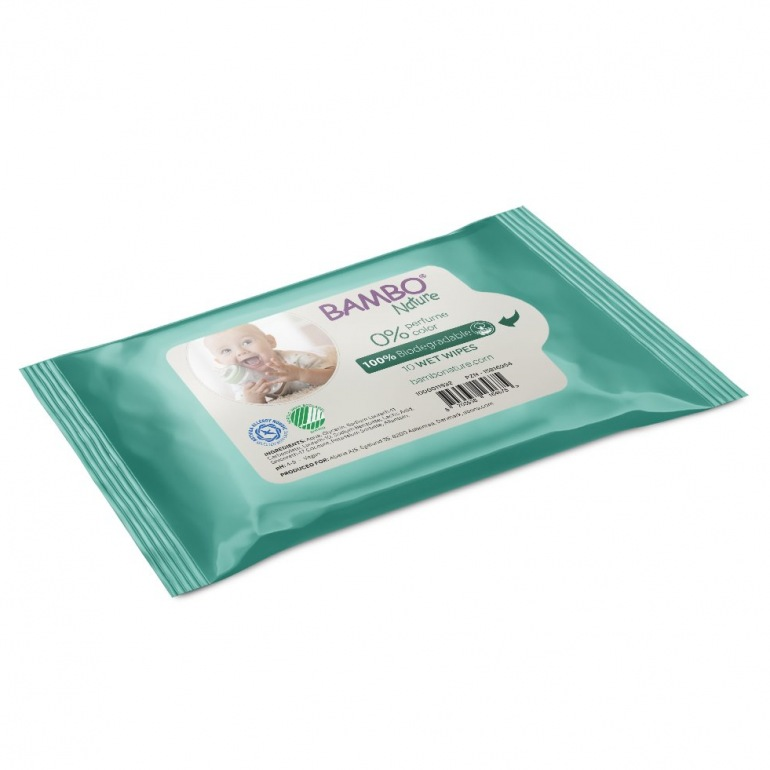 Abena Bambo Nature Baby Wet Wipes - Tape Lid