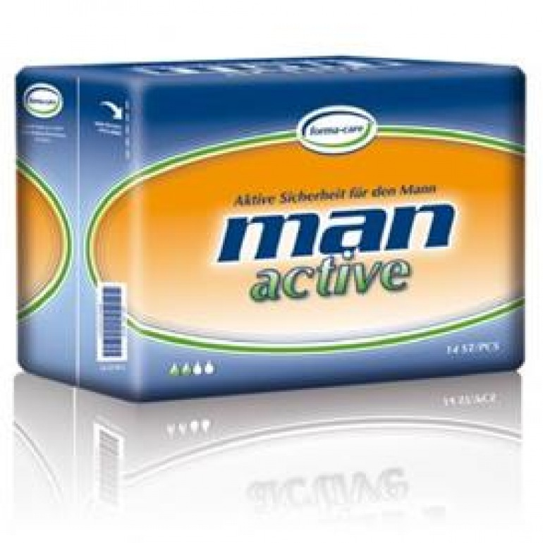 Forma-Care Man Active Dry Range Small Shaped Pad